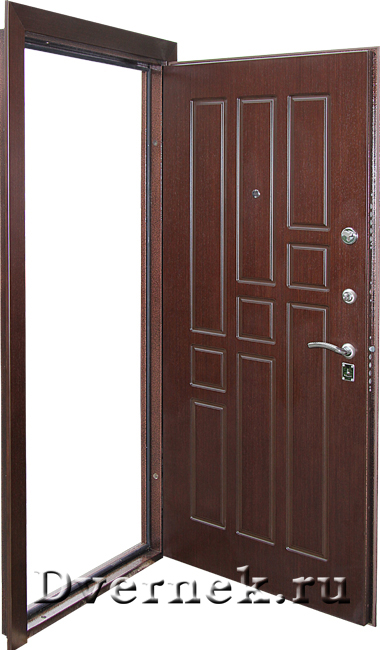 Открытая входная дверь в квартиру с МДФ с 2-х сторон от Dvernek.ru.