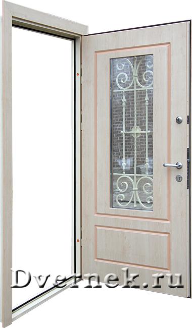 дверь для загородного дома со стеклом